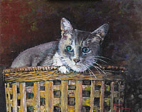 082017 Gracie in a Basket 16x20