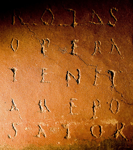 The so-called Paternoster Square acrostic from Pompeii